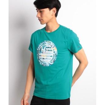 【50%OFF】 トミーヒルフィガー ロゴTシャツ メンズ グリーン S 【TOMMY HILFIGER】 【セール開催中】