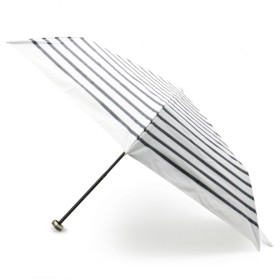 【13%OFF】 グローブ 晴雨兼用マリンボーダー折り畳み傘 レディース オフホワイト(303) 00 【grove】 【タイムセール開催中】