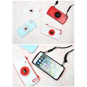 スマホケース - Petit Emma ツートン カメラ型 カメラ ストラップ付 iphoneX iphone8 iphone7 iphone8plusiphone7plus iphone6s iphone6splus iphone6plus アイフォンケース スマートフォンケー