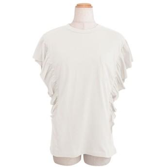 アンドジェイ 袖フリルポケット付き半袖Tシャツ レディース オフホワイト M 【ANDJ】