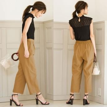 パンツ・ズボン全般 - Re: EDIT ベルトの有り無しで2通りの着こなしが楽しめる綺麗めパンツ2WAYコルセット風ベルト付きセンタープレステーパードパンツボトムス/パンツ/フルレングス