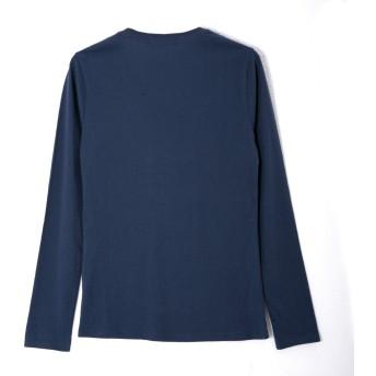 Tシャツ - JIGGYS SHOP ◆roshell(ロシェル) コットンUネックロンT◆ロンT カットソー メンズ Tシャツ 無地 長袖 ロングTシャツ長袖Tシャツ お兄系 綿100% 綿 メンズファッション 秋服
