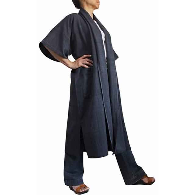 ジョムトン手織り綿のサマーコート 墨黒(JFS-127-01)