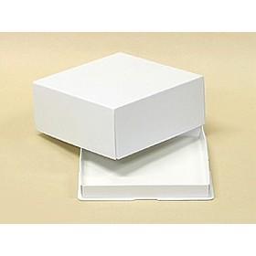 TOMIZ cuoca (富澤商店 クオカ) かぶせパイ箱(白無地) 5号 / 1枚 お菓子箱 パイ箱