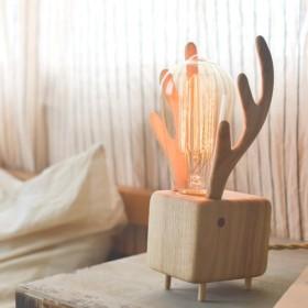 Elk 木製照明調光式ナイトライト