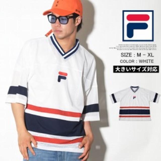 a2e83c77049 FILA フィラ ホッケーシャツ メンズ 大きいサイズ ゲームシャツ ストリート系 ヒップホップ スポーツ ファッション