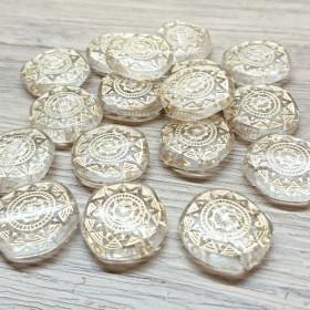 10個セット クリアゴールド 円形ビーズ