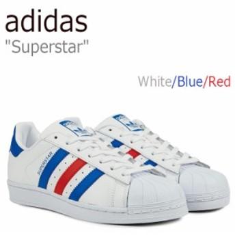 アディダス スーパースター スニーカー adidas メンズ レディース Superstar ホワイト ブルー レッド BB2246 シューズ
