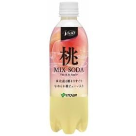 「Vivit's桃mlIXSODA450mlペット」24本入1ケース単位伊藤園(株)