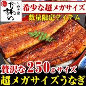 【数量限定】超メガサイズうなぎ蒲焼き 250g×1本【ウナギ 鰻 ギフト お歳暮 お年賀 食品 うなぎ蒲焼国産】