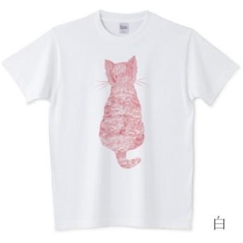 かわいい子猫とバーベナTシャツ ブルー 受注制作 全4色 サイズ多数
