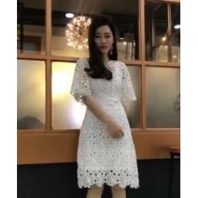 パーティードレス 花柄 レース 結婚式 韓国 20代 30代 40代 大きいサイズ 二次会 フォーマル 披露宴 お呼ばれ セットアップ