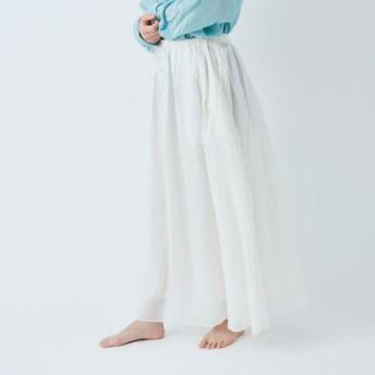 【送料無料】enrica cottonsilk skirt natural / size 38