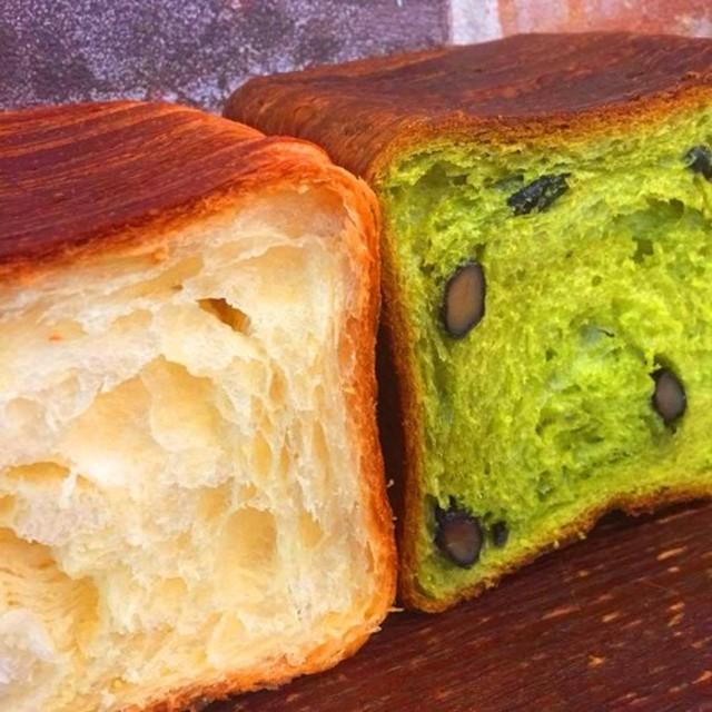 グロワールで人気のパンドグロワールと京宇治抹茶と丹波黒豆のパンドグロワールのセット