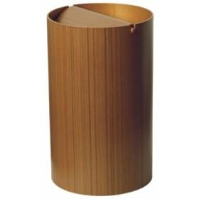 サイトーウッド ごみ箱 回転蓋 954TA 954TA teak grain(ayous)チークグレイン プライウッド SAITO WOOD ミッドセンチュリー くず入れ 木