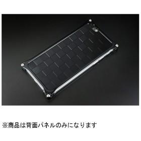 iPhone 6用ソリッドバンパー対応 アルミパネル市松 ブラック GI-307B
