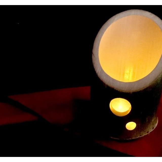 ハンドクラフト 竹ランタン handcrafted bamboo lantern No(1)