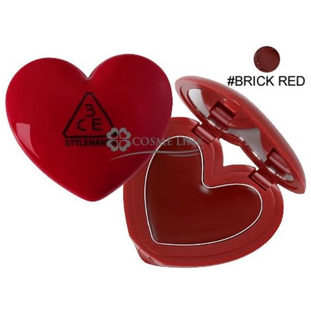 3シーイー 3CE ハート ポット リップ #BRICK RED (397071)