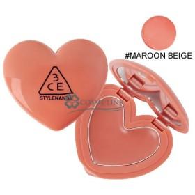 3シーイー 3CE ハート ポット リップ #MAROON BEIGE (397095)