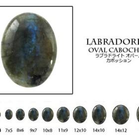 天然石 ルース 卸売 ラブラドライト(labradoraite) オーバルカボション 7x9mm
