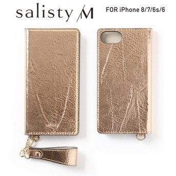 [iPhone 8/7/6s/6専用]salisty(サリスティ)M シャイニー ダイアリーケース(カッパーゴールド)M-DC003C