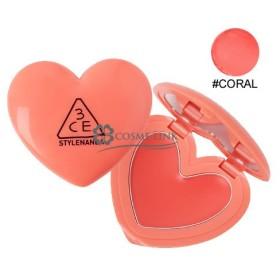 3シーイー 3CE ハート ポット リップ #CORAL (397064)