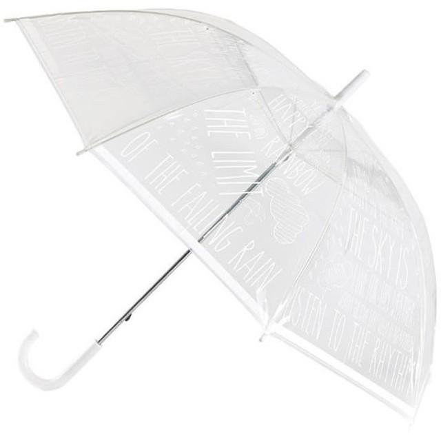 スパイス ハッピークリアアンブレラ ワード ホワイト HHLG5030WH (透明ビニール傘)