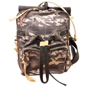 Waxedキャンバス迷彩バックパックUrban Camouflage Backpack(M / L)(カモ粉)