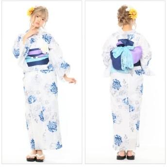 浴衣 - SWEET ANGEL 浴衣8点セット/YS305/紫×紺
