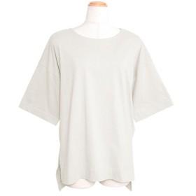 アンドジェイ オーバーサイズヘムラインスリット半袖Tシャツ レディース オフホワイト M 【ANDJ】