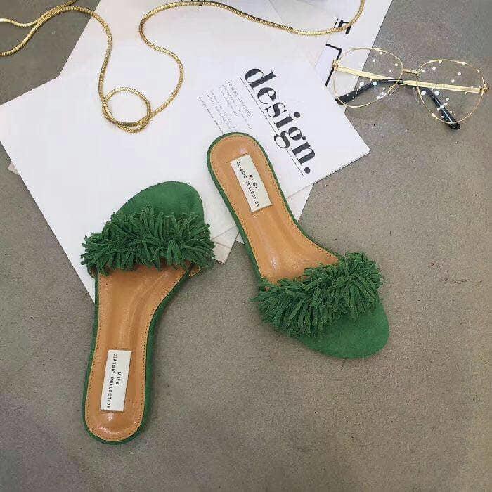 Sandal Teplek Cendol Hijau Tua
