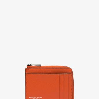 Michael Kors(マイケルコース) MICHAEL KORS MEN'S HARRISON Lジップ アラウンド カードケース ブライトオレンジ NS