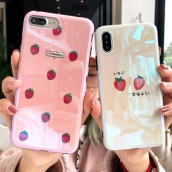 2018新作 iPhoneX iPhone8 iPhone7Plus iPhone6ケース 全機種対応スマホケース可愛いイチゴ柄カップルiPhoneケースPG07