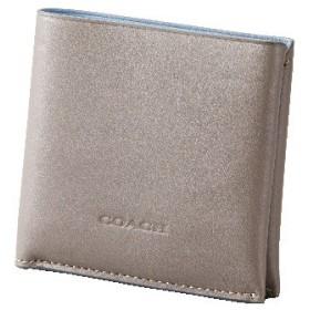 【コーチ】2つ折り財布(メンズ) グレー&ライトブルー