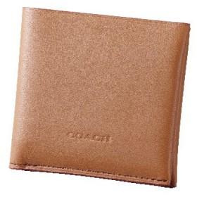 【コーチ】2つ折り財布(メンズ) サドル&ブラック