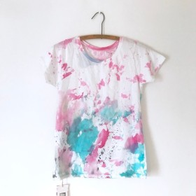 再販 T-shirt / scratch / pink / Tシャツ Women's S