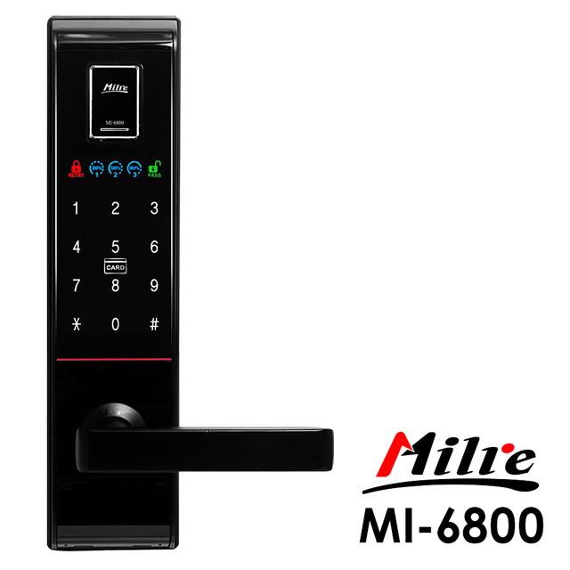 Milre 美樂 四合一密碼/指紋/卡片/鑰匙智能電子門鎖(MI-6800)(附基本安裝)