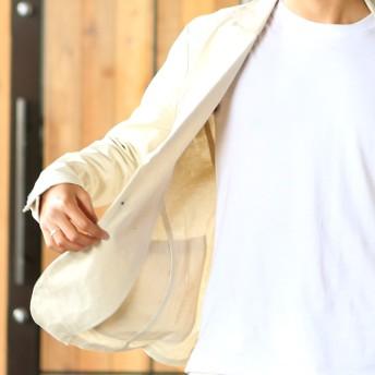 テーラードジャケット - improves メンズファッション テーラード 涼しい リネン 麻 ストレッチ サマージャケット 黒 紺 ベージュ ブラック ネイビーセットアップSETUP 2B2つボタン アウター ジャケット テーラードジャケット メンズ メンズファッション メンズ