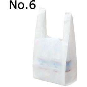 アスクル レジ袋(乳白) No.6 幅150mm×マチ90mm×縦310mm 1袋(100枚入)