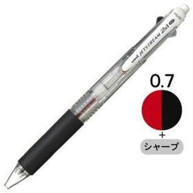 三菱鉛筆(uni) ジェットストリーム多機能ボールペン 2色+シャープ 0.7mm MSXE3-500-07 透明軸 1本