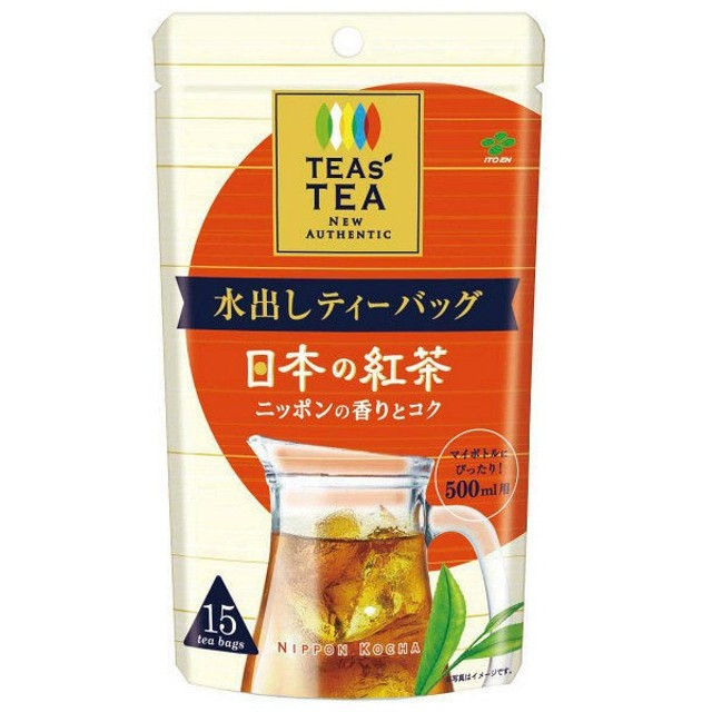 伊藤園 TEAS' TEA NEWAUTHENTIC 水出しティーバッグ 日本の紅茶 1袋(15バッグ入)