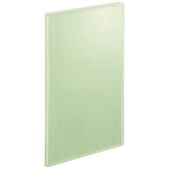 テージー クリアファイル 固定式20ポケット A4タテ 透明表紙 ライトグリーン マイホルダー