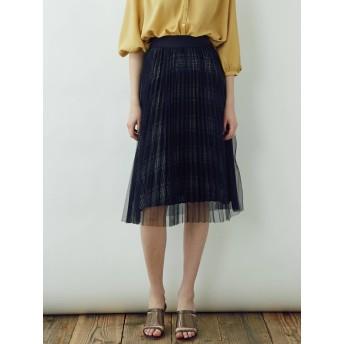 [LAGUNAMOON]プリーツチュールレイヤードスカート