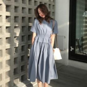 ロングワンピ 半袖 ブルー ブラック ワンピース ドレス パーティ リゾート 二次会 きれいめ 20代 30代 40代 大きい キャバ