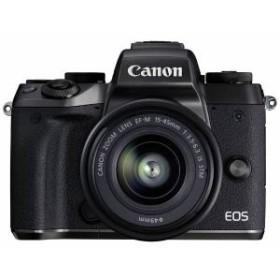 納期約1~2週間 お一人様1台限り EOSM5-1545ISSTMLK canon キヤノン ミラーレス一眼カメラ EOS M5EFM1545ISSTM レンズキット