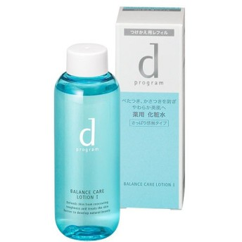 d プログラム バランスケア ローション WI (つけかえ用レフィル) 敏感肌用化粧水  (さっぱり感触タイプ) 125mL 資生堂
