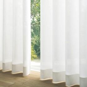 PMキャプチャーレースカーテン ホワイト 巾100×丈176cm(2枚組)