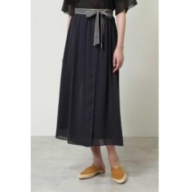 ヒューマンウーマン(HUMAN WOMAN)/楊柳ラップロングスカート