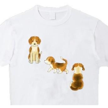 受注プリント全4色Tシャツ「犬いぬ戌」オリジナル☆大人から子供まで全てのサイズ対応