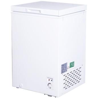 冷凍ストッカー 冷凍庫 100Lクラス(98L) フリーザー 上開き 小型 保存 -20℃以下 温度調整 急冷 単相100V 家庭用 業務用 PlusQ QFZ10A
